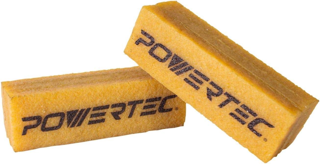 Powertec 71424 B/âton de nettoyage abrasif pour bandes de pon/çage et disques en caoutchouc naturel pour atelier de travail du bois et pon/çage parfait