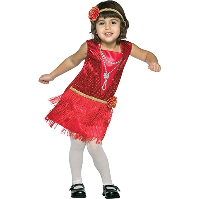 Vintage Style Children's Clothing: Girls, Boys, Baby, Toddler Rasta Imposta Childs Toddler Flapper Dress Costume (Size:3-4T) $42.22 AT vintagedancer.com