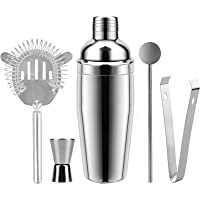 Cocktail Shaker Set of 5, Home-MART 26 oz Martini Shakers Professional Bar Set Stainless Steel Drink Shaker Bartender…