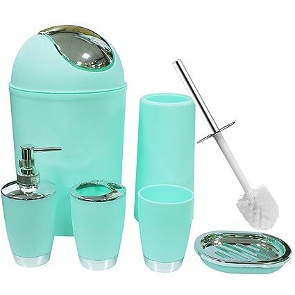 Amazon Com Soeland Bathroom Accessories Set 6 Piece Plastic Bath