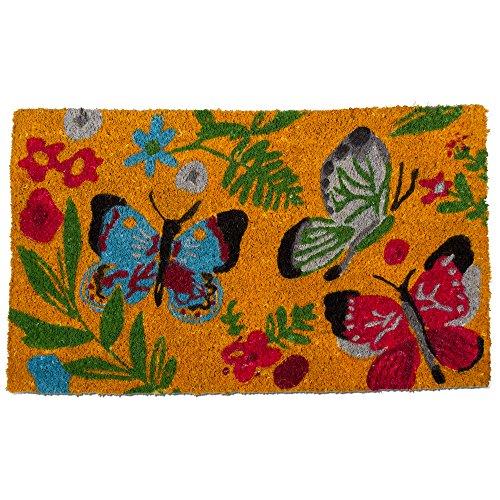TRADE ASSOCIATE GROUP Sunshine Butterfly Coir Mat, 1 Each -