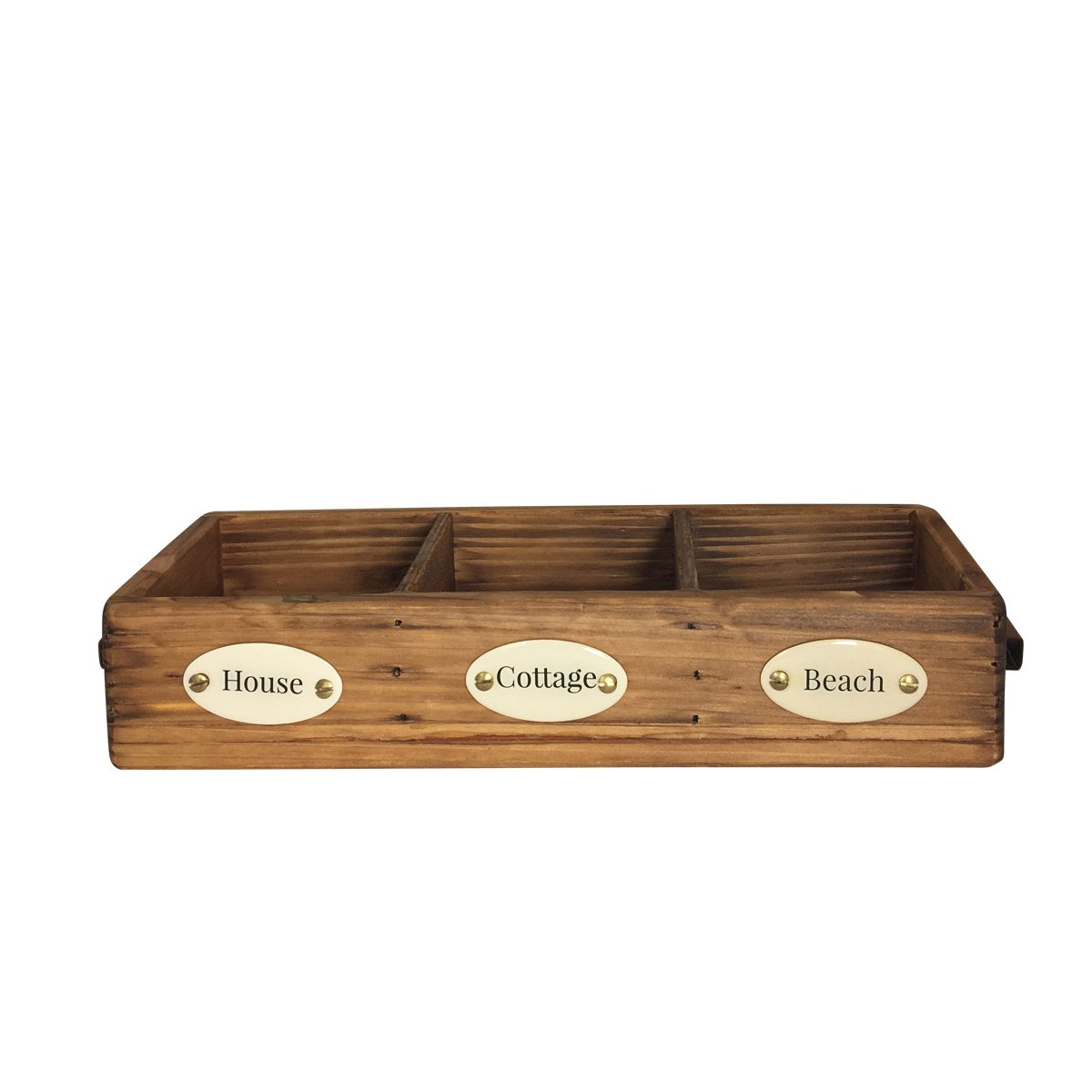 Duke Baron Vintage Style Wood Valet Tray, Brown