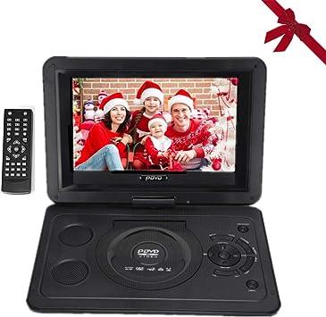Reproductor de DVD, TV HD de 13.9 Pulgadas Reproductor de DVD portátil para automóvil con Pantalla LCD giratoria, Entrada/Salida AV, Radio FM Soporte de batería Recargable Tarjeta SD CD (EU): Amazon.es: Electrónica