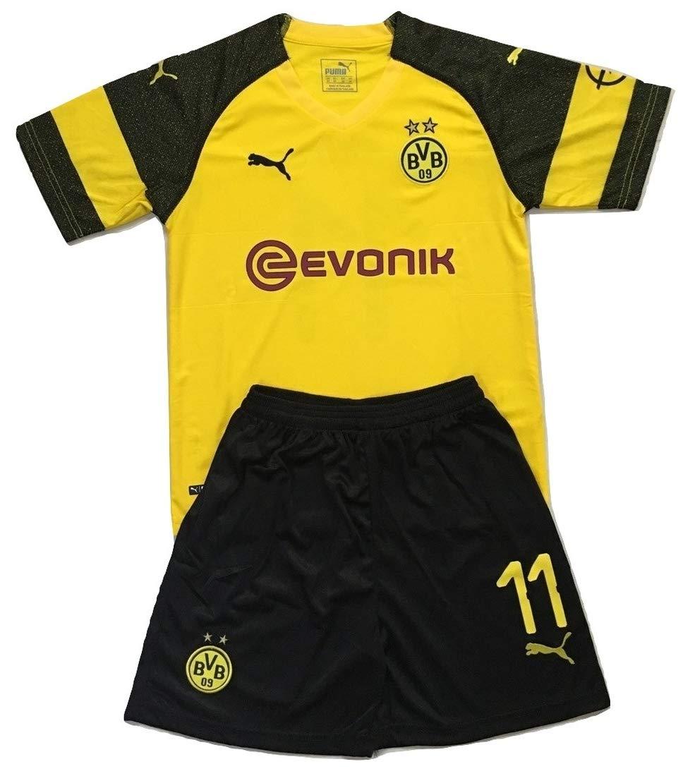9681a8478cb Amazon.com   Gadzhinski2017 Reus  11 Borussia Dortmund 2018-2019  Kids Youths Home Soccer Jersey   Shorts   Sports   Outdoors
