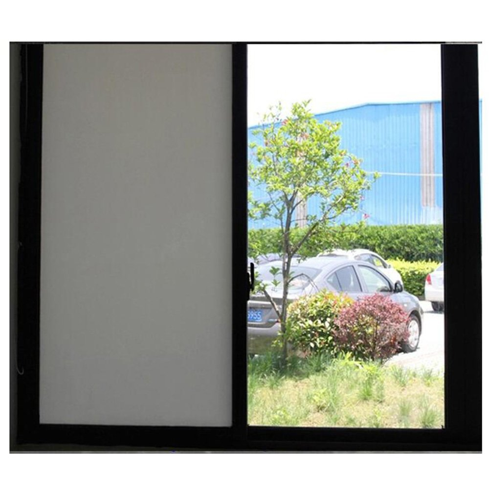 HOHO selbstklebend Fensterfolie Milchglas weiß blickdicht