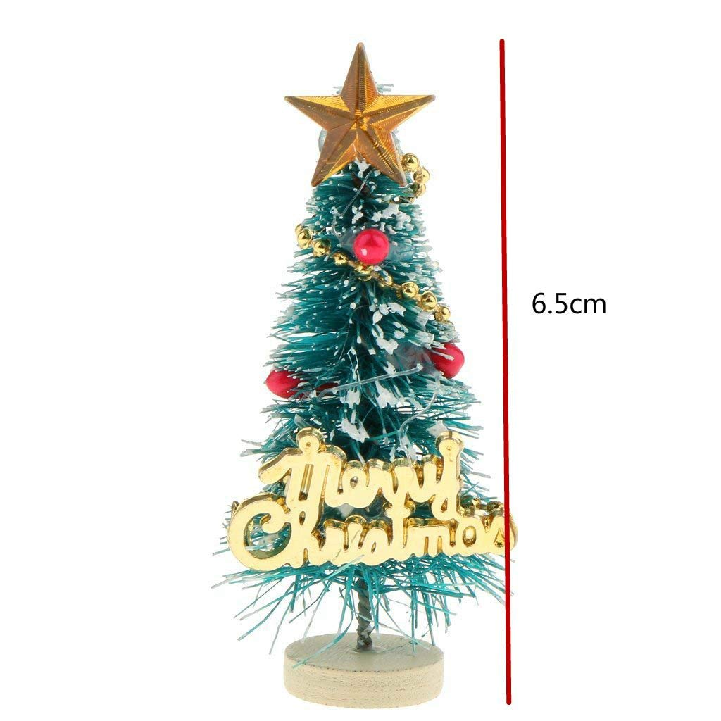 Luntus 1 12 Maison de Poupee Arbre de Noel Miniature Tableau des Lettres Joyeux Noel Decoration de Stand en Bois