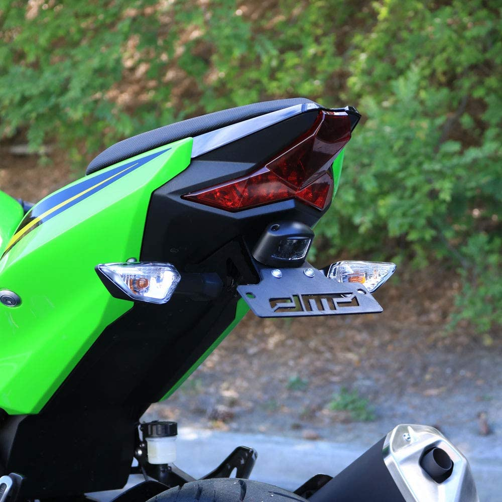 DMP Kawasaki Ninja 400 2018 2019 Z400 Fender Eliminator Kit SLR For use with OEM Markers and Plate Lights 670-4155 - MADE IN THE USA