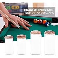 Tbest 10 unids Cue Tips Slip-on Billar Snooker Consejos de Billar Taco de Repuesto Piezas de Accesorios Accesorio