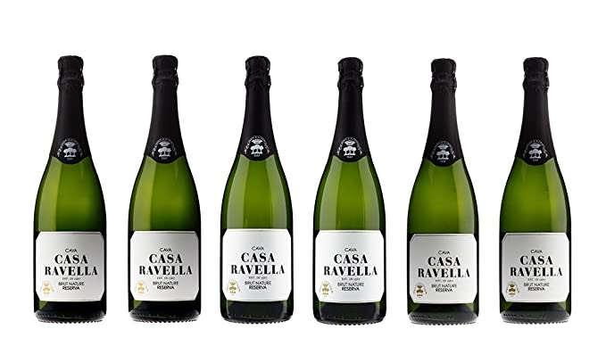 CASA RAVELLA Cava Brut Nature Reserva 75 cl - Pack 6 botellas
