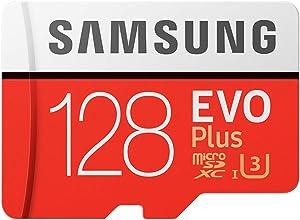 Ajcoflt Tarjeta de Almacenamiento de Memoria 32GB / 64GB / 128GB / 256GB 100MB / S 4K Class10 Tarjetas Micro SD Red Plus U3 128GB