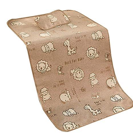 Almohadilla para cambiar pañales impermeable para bebés de verano Estera para dormir,Colchoneta + almohada