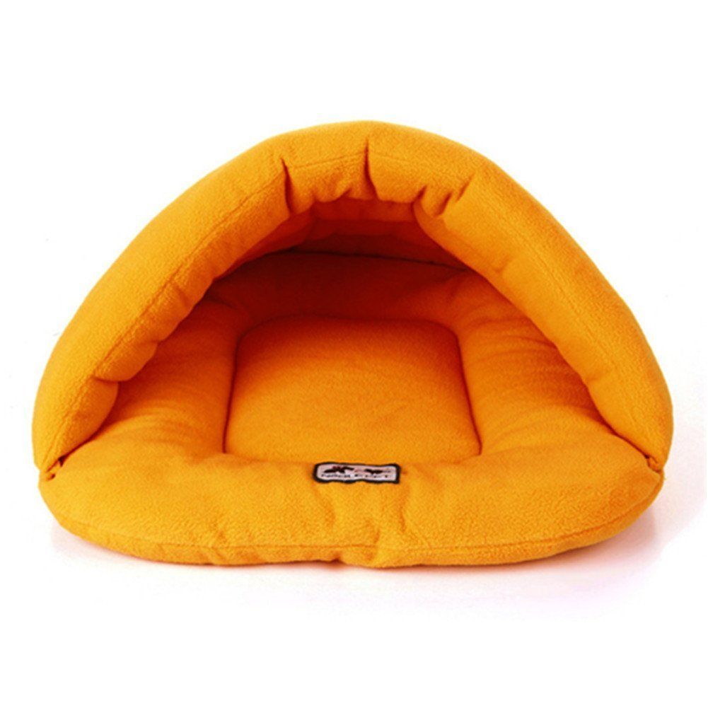 nuovo stile BAOLIJIN BAOLIJIN BAOLIJIN Cat Bed Sacco a Pelo per Gatti Sacco per Coccole Caldo Sacco per Cani Morbidi Coperta per Cuccioli Gattini Giallo Large (58  68cm)  più economico