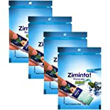 Ziminta Sugar Free Mint Mouth Freshener Easily Soluble Digestive Dispensable Strip - 30 Strips (Mint Flavour, Blue) - PACK of 4