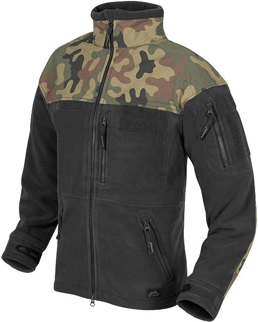 Helikon Tactical Infantry Double Heavy Fleece Mens Jacket Black Polish Woodland