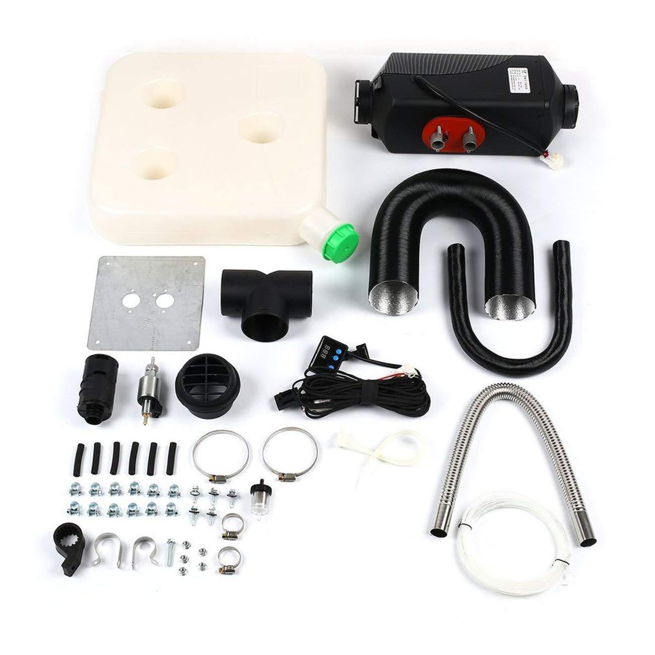 LasVogos 12V/8000W Single Hole Car Heater LCD Dynamic Display Remote Control Silencer