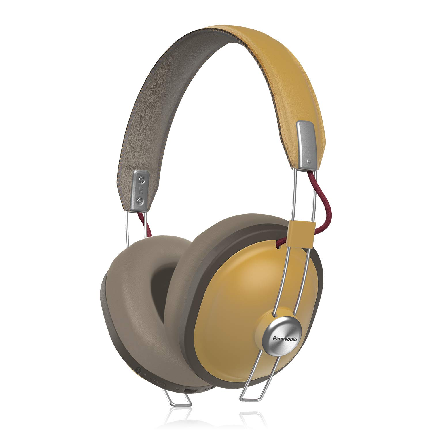 b8f6381713e3eb Amazon.com: PANASONIC Retro Wireless Headphones with Bluetooth connectivity  and up to 24-Hour Playback - RP-HTX80B-C - Over the Ear Headphones (Dijon):  ...