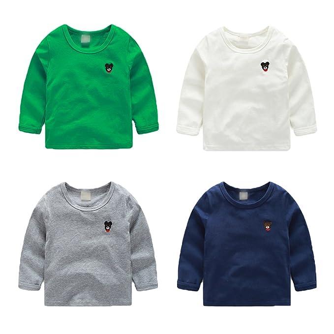 WanYang Bordado Camiseta De Manga Larga para Bebés Sudaderas para Niños Bebé Camisetas: Amazon.es: Ropa y accesorios