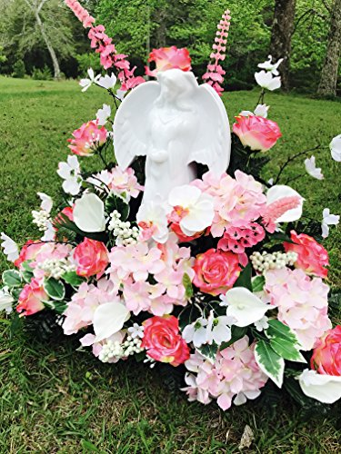 Solar Lighted Angel By Eternal Light Memorial Decoration