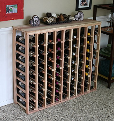 Creekside 72 Bottle Table Wine Rack (Redwood) by Creekside - Exclusive 12 inch deep design conceals entire wine bottles. Hand-sanded to perfection!, Redwood by Creekside Manufacturing