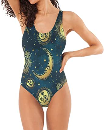YING Gold Celestial Bodies Moon Star Navy Women's Quick