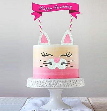 Amazon.com: Hecho a mano Kitty decoración para tarta para ...