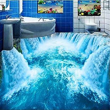 Favorit Wapel 3D Wearable Pvc Boden Malerei Schönen Wasserfall Bad Wc NH46