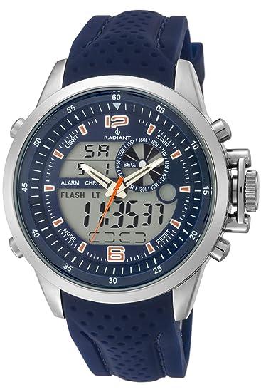 Reloj Radiant para Hombre con Correa Azul y Pantalla en Azul RA400605: Amazon.es: Relojes