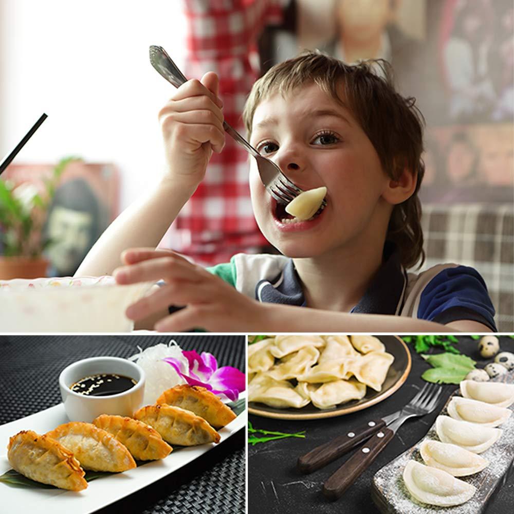 COTEY Large Dumpling Maker 3-in-1 Dough Cutter//Dumpling Mold//Pastry Crimper for Empanada 4 Stainless Steel Empanada Press Dumpling Calzone Ravioli /& Meet Pie Pierogi