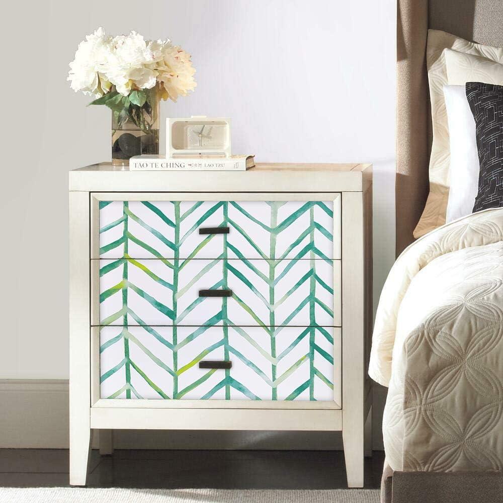 Stripe Peel and Stick Wallpaper Green Minimalist Herringbone Print ...