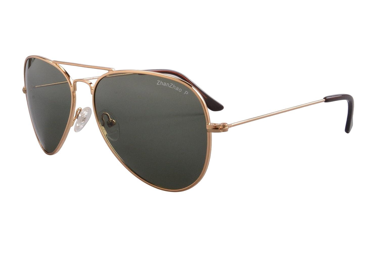 2 Pack of Sunglasses Men Women Polarized Metal Mirror UV 400 Lens Eyewear-TY301