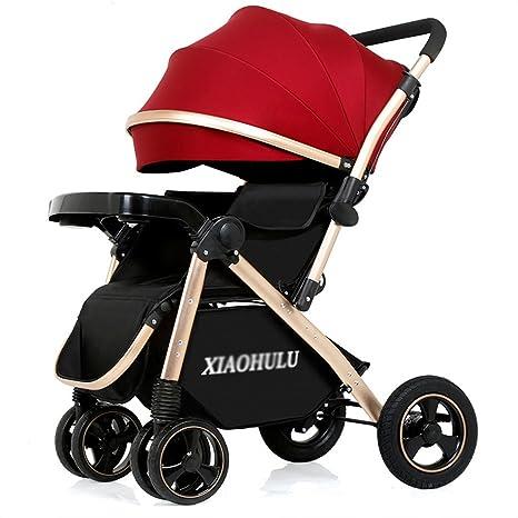 Cochecito para bebé plegable carro convertible de lujo alta vista anti-shock durable ruedas recién