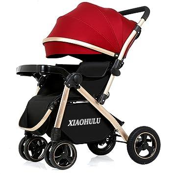 Cochecito para bebé plegable carro convertible de lujo alta vista anti-shock durable ruedas recién nacido coche de bebé protección a prueba de viento ...