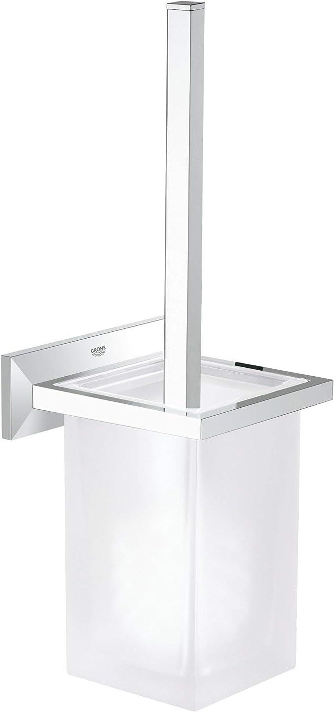 GROHE Porte-Balai pour WC Essentials Cube 40513001 Import Allemagne Argent