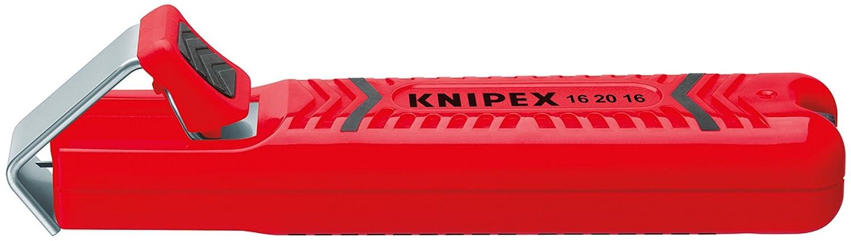 KNIPEX 16 20 16 SB Outil /à d/égainer bo/îtier en plastique r/ésistant aux chocs 130 mm