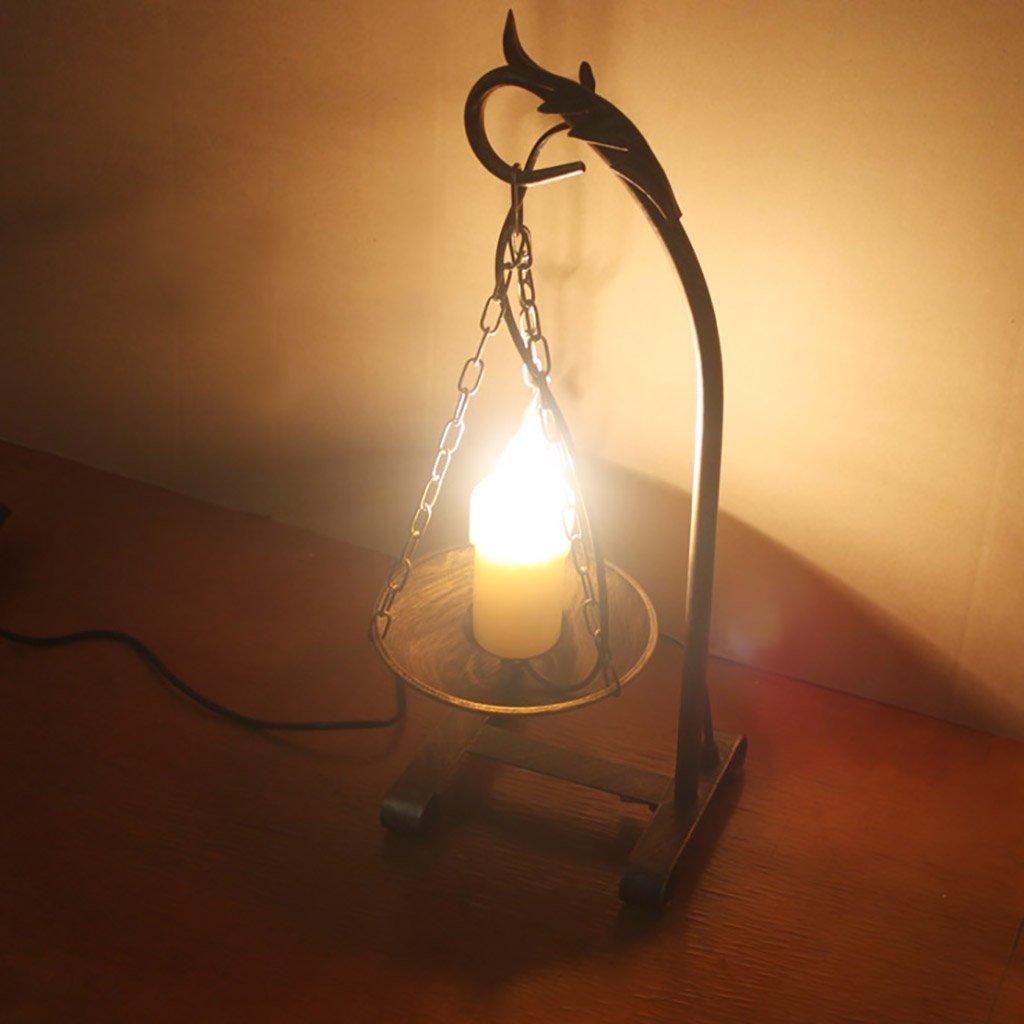 Home experience- Kreative kreative Tischlampe des Retro- Dachbodens, Eisen-Schreibtischlicht für Stabcaféshop, An-   Aus-Schalter