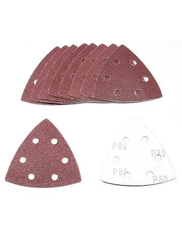 50 Klett-Schleifdreiecke 93x93x93 mm Korn 40-240 Delta 6-Loch Schleifpapier