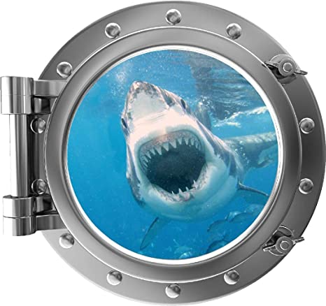 3D Fish Ocean Shark Home Room Decor Removable Wall Stickers Decal Decoration