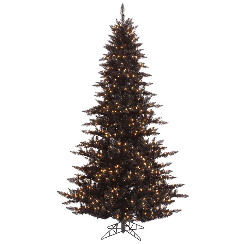Vickerman K161766 6.5 ft. x 46 in. Black Fir Christmas Tree with 600 Clear 1216 Tips Dura Light