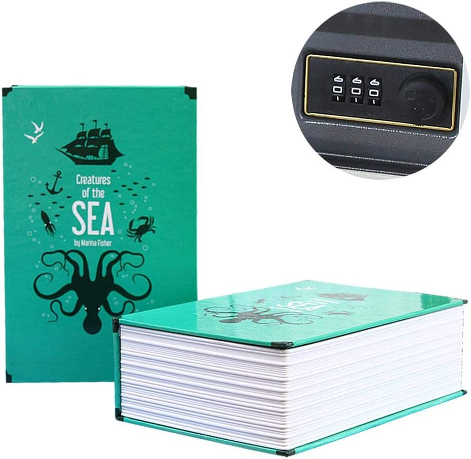 Secret Safe Containers Portable Storage Container for Money Diversion Safe Book Stash Safe Box Jewelry Documents Or Valuables Home Password Code Storage Box Book Safe with Combination Lock