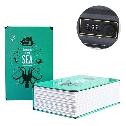 Chengstore Caja de Seguridad de combinación de Libros, Caja de Seguridad para Guardar Dinero,