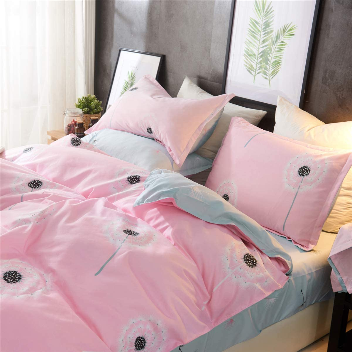 Strawberry Duvet Cover Set Full//Queen Size Strawberry Printed Bedding Duvet Cover for Kids Teens Girls Quilt Cover Fruit Theme Comforter Cover Cute Warm Sweet Duvet Cover Soft Breathable Bed Cover