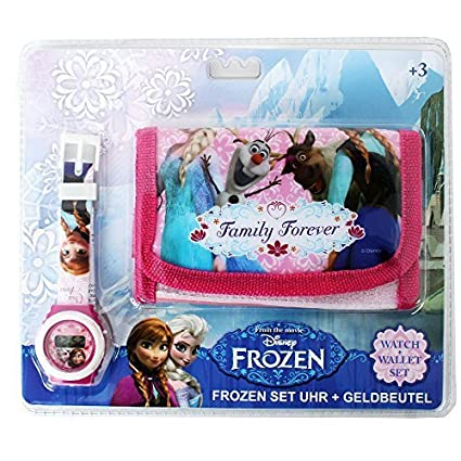 Disney Frozen Star Wars Motivo Set De Regalo Niños Monedero Cartera y digital Pulsera - Frozen