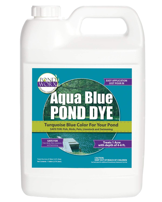 PondWorx Lake and Pond Dye- Aqua Blue Pond Dye - 1 Gallon by Pond Worx