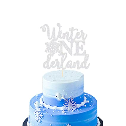 Astounding Heeton Winter Onederland Cake Topper Silver Snowflake Winter First Funny Birthday Cards Online Alyptdamsfinfo