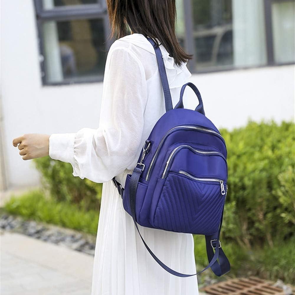 JUCHENG-TP Zaino PU Semplice con Motivo Check Daypack per Scuola Viaggio Lavoro (Color : Red) Blue