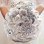 Made-to-order-Brooch-Bouquet-Wedding-Bridal-Flowers-Satin-Roses-Bride-Bridesmaids