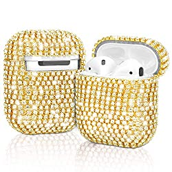 Gold Diamond Airpods Case Cover Handmade