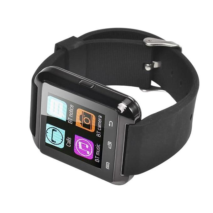 Reloj inteligente genérico U Watch U80 con Bluetooth 3.0 y correas de silicona para teléfonos inteligentes con iOS como iPhone 4, 4S, 5, 5C, ...