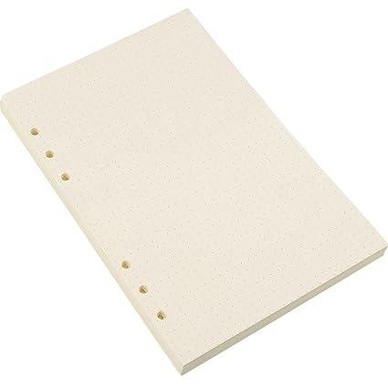 Recambios de Papel de Carpeta de 6 Anillos A5 para Insertos de Cuadernos Diarios, 8,35 por 5,59 Pulgadas (100)