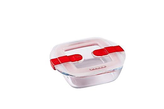 Pyrex Cook&Heat Recipiente de almacenamiento y transporte de alimentos, Vidrio borosilicato, transparente